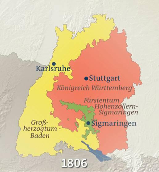 Baden Württemberg Karte.Baden Württemberg 1806 Karten Inhalt Geschichte Der