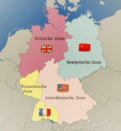 Stumme Karte Deutschland Bundesländer.Besatzungszonen In Deutschland 1945 Karten Inhalt Geschichte