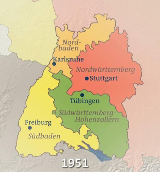 Baden Württemberg Karte.Baden Württemberg 1951 Karten Inhalt Geschichte Der
