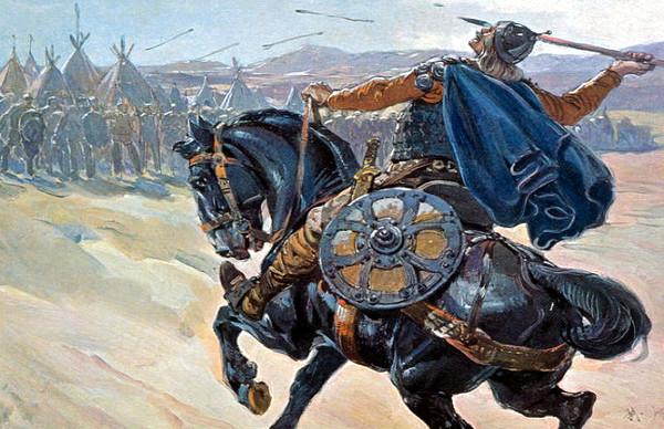 Mongolisches reitervolk