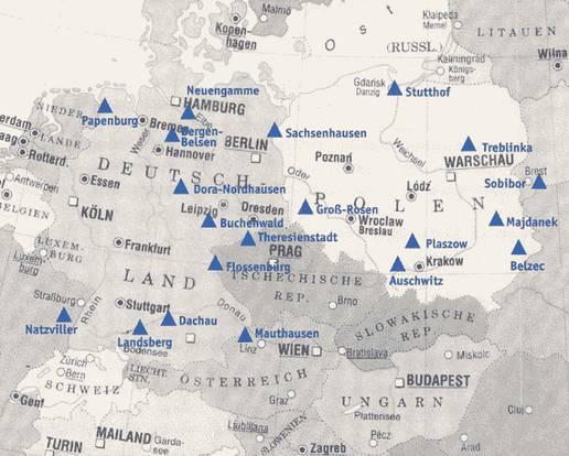 konzentrationslager karte Konzentrationslager | Hintergrund | Inhalt | Spuren der NS Zeit