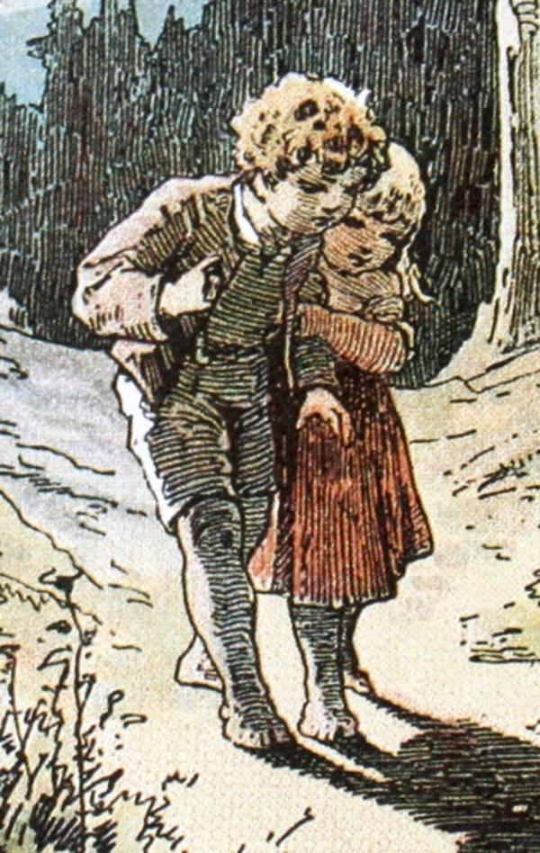 brder grimm museum kassel kolorierte abbildung einer szene aus hnsel und gretel quelle alexander zick 1845 - Gebruder Grimm Lebenslauf
