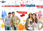 Die Startseite von Flirt English – The Game