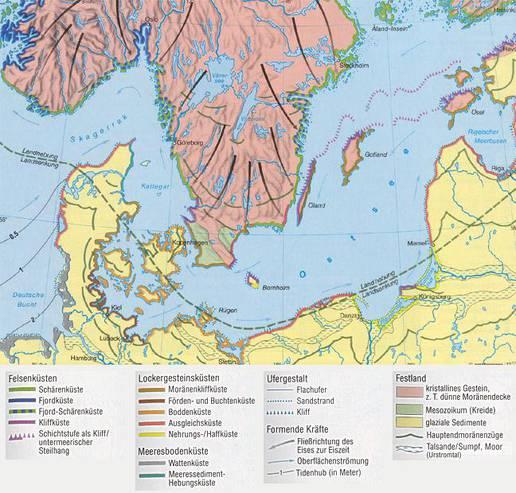 Karte Norddeutschland Ostseekuste.Kustenlandschaften An Der Ostsee Hintergrund Inhalt