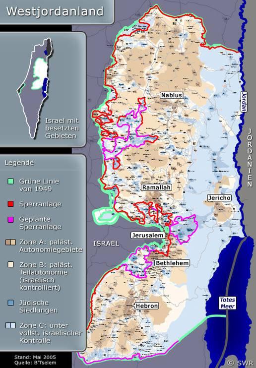 Nahost Karte.Karte Westjordanland Nahost Hintergrund Inhalt