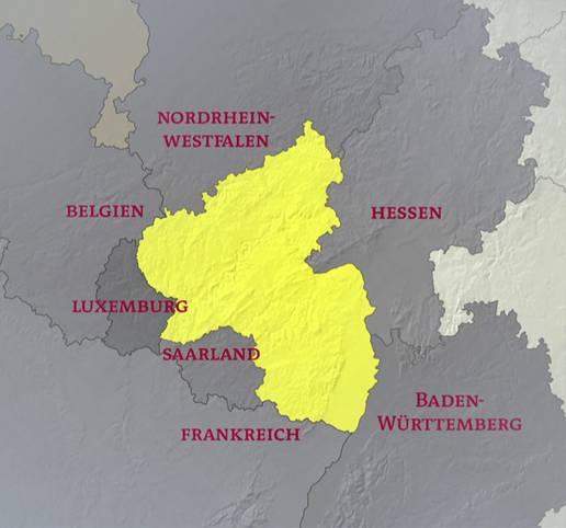 Karte Baden Württemberg Rheinland Pfalz.Rheinland Pfalz Und Seine Nachbarn Karten Inhalt Geschichte